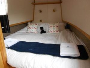 The Bed on the canal boat